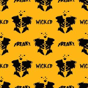wicked freaky skeletons in love