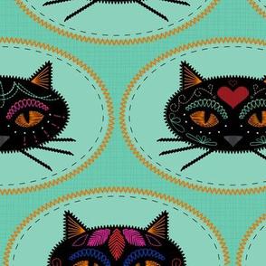 Cadavera Cats Embroidery