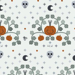 Pumpkins and moon