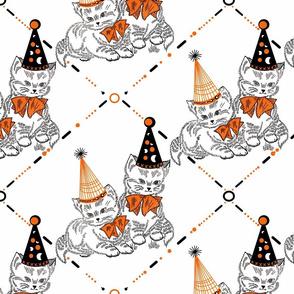 Halloween Kittens embroidery sewindigo