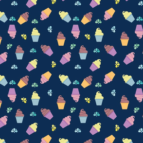 COLORFUL ICE CREAM IN NAVY