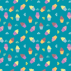 COLORFUL ICE CREAM IN TURQUOISE