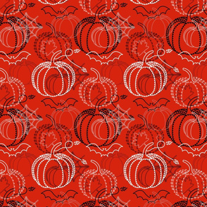 Halloween Embroidery Print