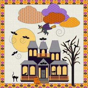 Halloween Embroidery, swatch