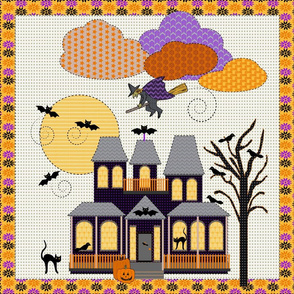 Halloween Embroidery, sampler