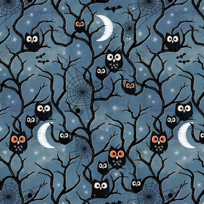 Spooky woods owls