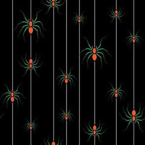 spider halloween stripe view as swatch