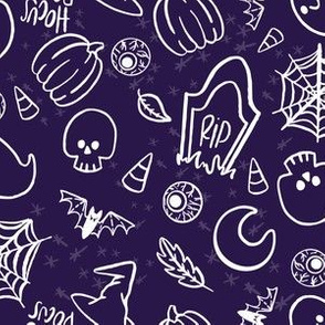 Spooky Cute Halloween- (Purple)