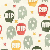 Ghost and Gravestone Halloween
