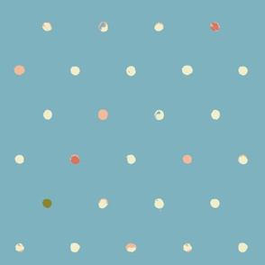 batik polka dots - half inch, italia
