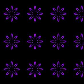 Purple Night Funky Flower