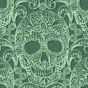 Lace Skull {Mint}