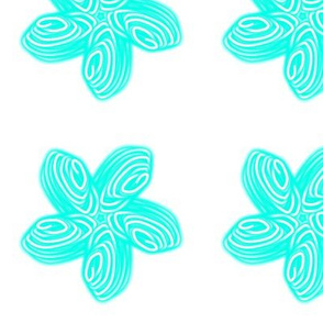 Hakarua Funky Flower Teal Star Flower with Soft egdes