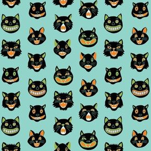 SMALL - halloween cat mask // cats, cat, spooky, scary, halloween fabric, black cat fabric - colors