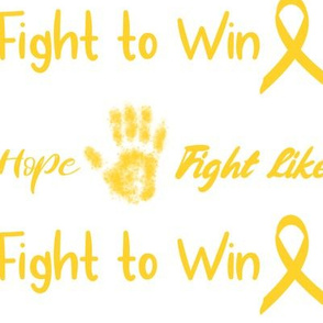 Fight like a kid large scale - children's cancer positive words