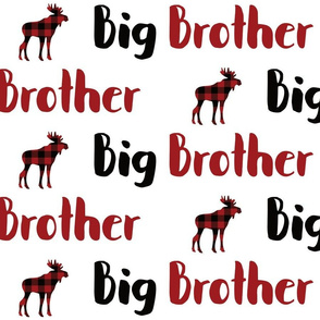 big brother buffalo plaid moose