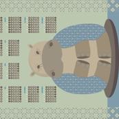 Zen Hippo Tea Towel 2020