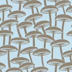 Mushrooms - Hollow Brown Mushrooms on Cloud