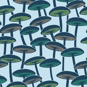 Mushrooms - Multicolor on Cloud