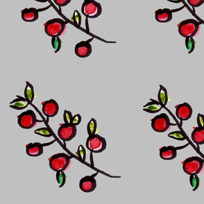 Berries on Pale Grey
