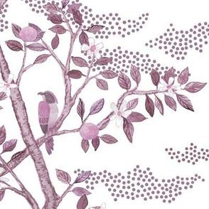 Soft Violet Citrus Grove Toile
