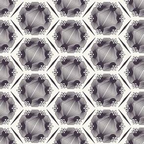 Seamless vector pattern. Hand drawn mosaic tile shapes.