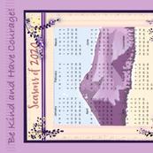 2020 Tea Towel purple mountains
