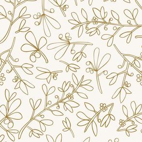 Gold Winter Flora