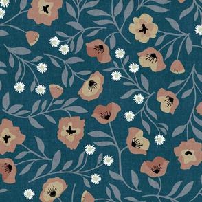 Nouveau Poppies { Dark Denim }