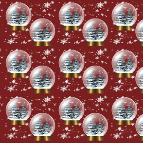 snowflakes and snowglobes