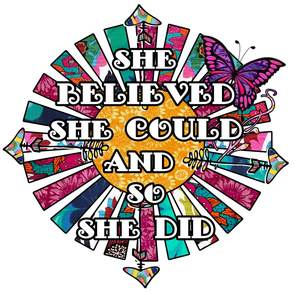 She believed she could and so she did retro fabric collage