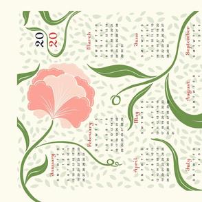 2020 FLOWERY TEA TOWEL CALENDAR