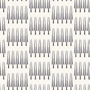 Ethnic row of trees motif scandi style. Vector seamless pattern.
