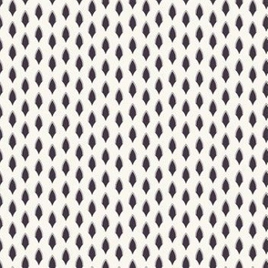 Vector pattern. Linocut striped diamond shapes.