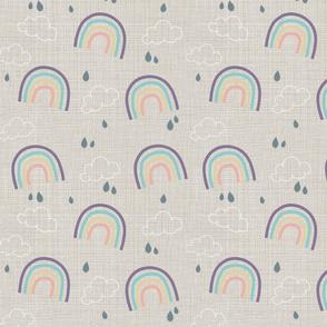 Rainbow Storm Linen