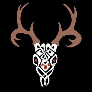 Celtic Deerskull 1 black