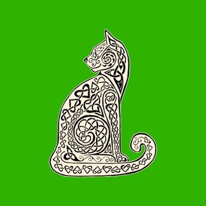 Celtic Cat 8 black green swatch