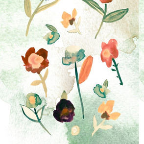 Vintage Mint Floral Pattern