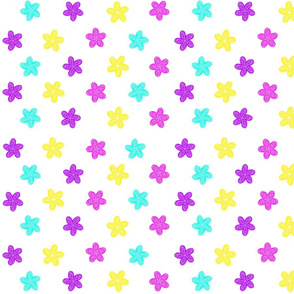 Soft Stars Pastel Star Flowers.