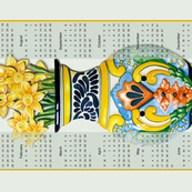 Talavera Tea Towel with Daffodils 2020 Calendar 18x27