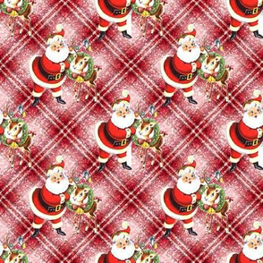 Santa Reindeer plaid