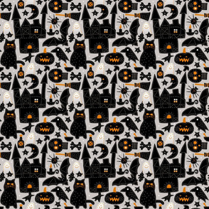 Halloween Embroidery - gray background, small