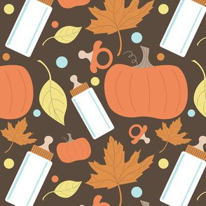 Autumn Baby Pumpkin Pattern