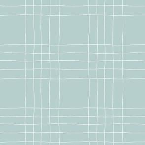 Fine Line Mesh 1 Eucalypt Blue