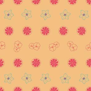 orange blossom geometric