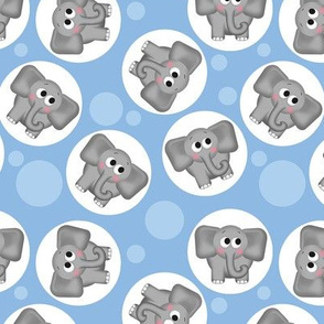 Cute Elephant Pattern Blue