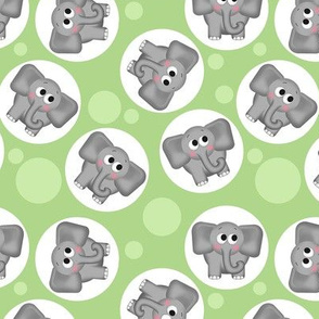 Cute Elephant Pattern Green