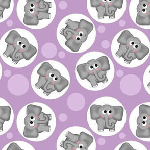 Cute Elephant Pattern Purple