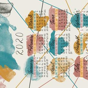 Hand  Lettering Watercolor Calendar