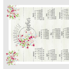 Farmhouse Gather 2020 tea towel-shabby bouquet